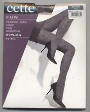 NEUF COLLANT FANTAISIE CETTE PYTHON 60D GRIS TAILLE MEDIUM  TIGHTS