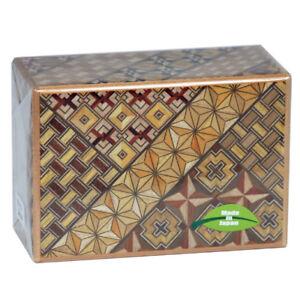 Japanese Yosegi Puzzle Box Samurai Wooden Secret Magic Trick Box 10 Steps HK-123