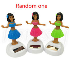 Fashion Solar Powered Dancing Hula Girl Swinging Bobble Car Decoration Toy Gift