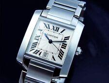 Cartier Tank Francaise Watch Automatic Steel Cartier Tank Men Watch w/ Box