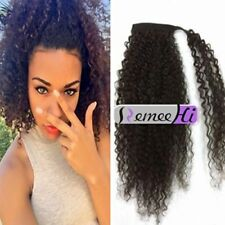 Kinky Curly 100% Human Hair Ponytail Wrap Around Clip in Human Hair Extension