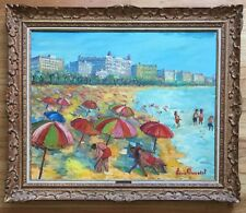 LOUIS DUCATEL Original Signed French Riviera Oil Painting Mid Century LISTED
