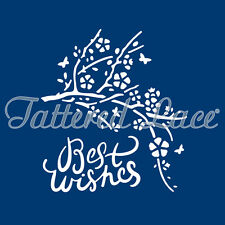 Tattered Lace Essentials DELICATE DETAIL BEST WISHES DIE - ETL607 - FREE P&P