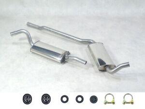 Edelstahl Auspuff Set NEU für Audi 90 + Coupe B3 Bj 87-94 2.0 2.2 2.3 Benziner