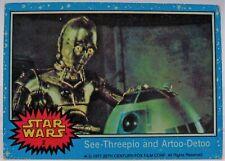1977 Star Wars Series One Trading Card # 2 See-Threepio and Artoo-Detoo