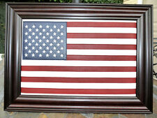 American flag Leather. High Quality Mohagony Unique Gift Idea.