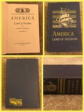 Vintage 1946 AMERICA LAND OF FREEDOM BOOK One Room School Middle History Teacher