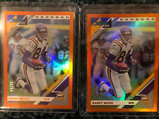 2019 Donruss FOOTBALL Jersey Number ORANGE Randy Moss (2) Card Lot /84 VIKINGS🔥