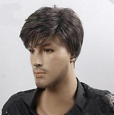 Men Popular Short Dark Brown Straight Cosplay Party Heat Resistant Hair Full Wig