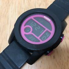 Nixon The Unit 40 Men 100m Digital Alarm Chrono Thermometer Watch Hours~New Batt