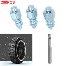 200PCs Snow Screw Tire Studs Car Motorcycle Anti Skid Falling Spikes Wheel Tyres