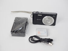 Sony DSC-W800 20.1 MP Compact Digital Camera 5x Optical Zoom w/ Batt & Charger