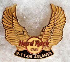 HARD ROCK CAFE ATLANTA 9-11 MOTORCYCLE RIDE GOLDEN WINGS PIN # 29494