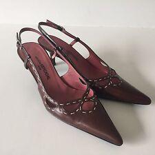 Women's Shoes US Size 6 - Atelier Mercadal Leather Slingbacks Eur Size 36 Italy