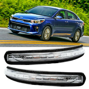 Right + Left Rearview Mirror LED Turn Signal Light Flashing For KIA Rio 11-17