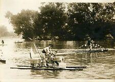 """""""René SAVARD PARIS-BREST en hydrocycle"""" Photo originale G.DEVRED (Agce ROL) 1931"""