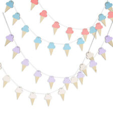 10X Wooden Card Bunting Banner Garland Baby Shower Birthday Party Hang Decor HG