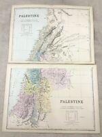 1891 Antik Map Of Palästina Israel Heilige Die Land Original 19th Century Karten