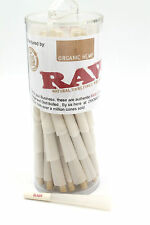 RAW Organic 1 1/4 Size Pre-Rolled Cones with Filter (80 Pack)