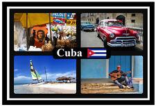 CUBA - SOUVENIR NOVELTY FRIDGE MAGNET - FLAGS / SIGHTS - BRAND NEW / GIFT