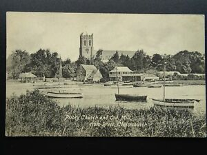 Dorset CHRISTCHURCH Old Mill & Priory Church - Old Postcard by Castle Tea House