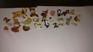 Vintage hagen renaker lot of 27 skunk mouse pig bear dog deer miniature animals
