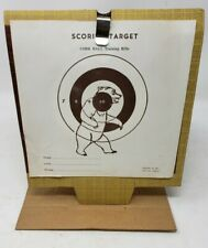 "Daisy Cardboard Target Set 1962 Original Unused Plymouth ""Bullet trap"""