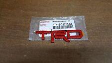 Toyota TRD Red Metal Emblem Genuine OEM PT413-35120-02