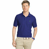 IZOD MEN'S ADVANTAGE PERFORMANCE SOLID SHORT-SLEEVE POLO SHIRT (Regular-$44)