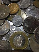 100 Gramm Restmünzen/Umlaufmünzen Seychellen