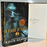 ✎✎SIGNED 1/1✎✎ A Plague of Giants AUTOGRAPHED Book by Kevin Hearne   NEW HX