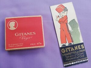 Lot 2 paquets GITANES Vizir pleins. Paquets anciens avec cigarettes. Collection