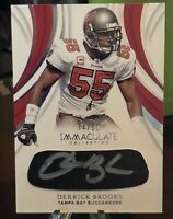 2019 Panini Immaculate Eye Patch Derrick Brooks Buccaneers Autograph #d /99