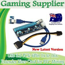 16 Sets BTC ETH Pcie PCI-E 1x To 16x Extender Riser Card Adapter USB 3.0 Cable