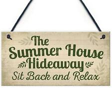 Garden Sign The Summer House Novelty Plaque Garden Shed Sign Friendship Gift