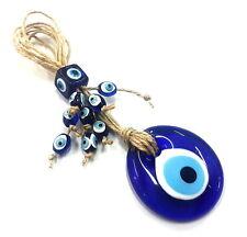 Nazar Boncuk Wandbehänge 18cm Glas Anhänger Deko Evil Eye Blau Augen NZ12