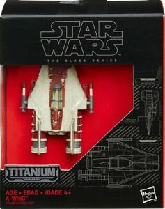 STAR WARS Titanium Black Series #20 A-WING: opened