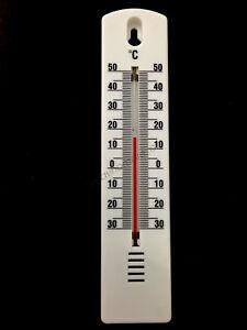 Indoor/Outdoor ℃ Reading Thermometer Centigrade Mercur Home Garden Garage White