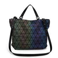 91999c809a Fashion Women Noctilucent Handbags Geometric Diamond Luminous Tote Purse Bag