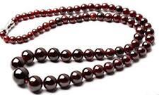 """Natural 5-12mm Garnet Round Gemstone Beads Necklace 18"""""""