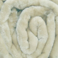 Large Cream Mink Fur Bed Throw 150 x 200