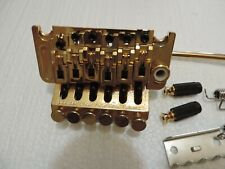 FLOYD ROSE GOLD BRIDGE SET FLOYD ROSE LICENSED GUITAR BRIDGE EXCELLNT CONDITION