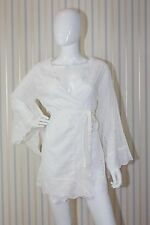 Lolita Jaca St Barths Eyelet White Cotton Caftan/Tunic SZ: US 2/4