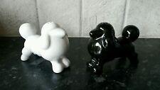 Poodle salt and pepper pots