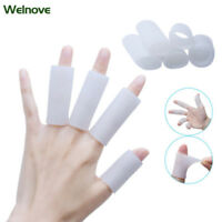 8Pcs  Silicone Gel Sleeves Separators Protector Soft Finger Tube Protector