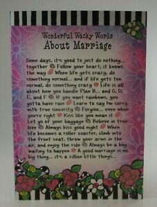 Wonderful wacky words about marriage anniversary love SUZY TORONTO GREETING CARD
