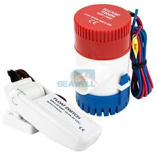 12V 1100 GPH Boat Bilge Pump Marine Submersible Water Pump With Float Switch
