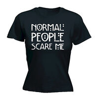 NORMAL PEOPLE SCARE ME WOMENS T-SHIRT emo rude punk rock funny mothers day gift
