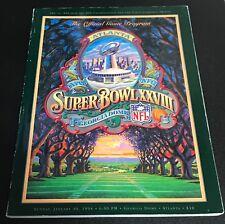 1994 Super Bowl XXVIII Program Dallas Cowboys Buffalo Bills  NRMT/MT Shape