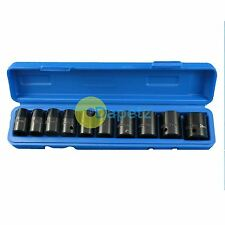 "10pc 1/2"" Inch Drive Impact Socket Set 10. 11. 12. 13. 14. 17. 19. 21. 22. 24mm"